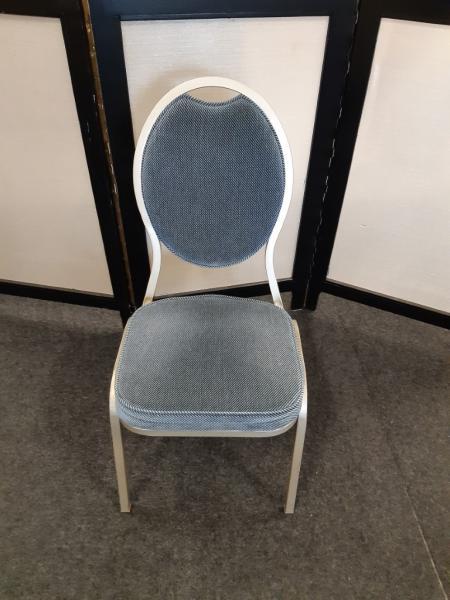 Gestoffeerde stoel blauw