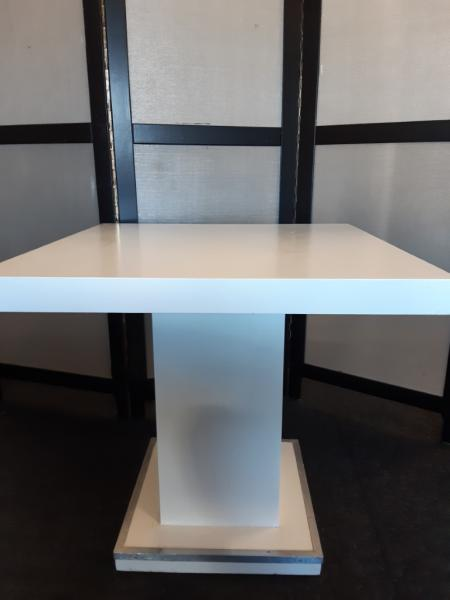 Terrastafel wit blok blad 80x80 cm
