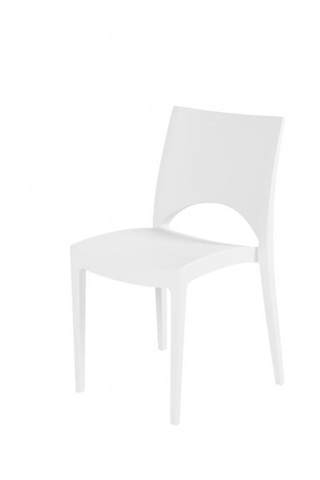 trendy witte kunstof stoel