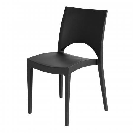 Trendy zwarte kunstof stoel