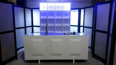 Luxe bar kleur wit met ledverlichting