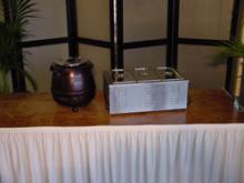 Soepketel bruin 11 liter, aux-bain-marie 3 baks