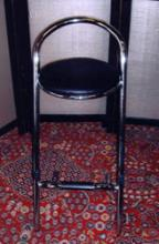 Luxe barkruk chroom met zwarte zitting