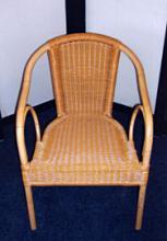 Rotan-look stoel - Aluminium